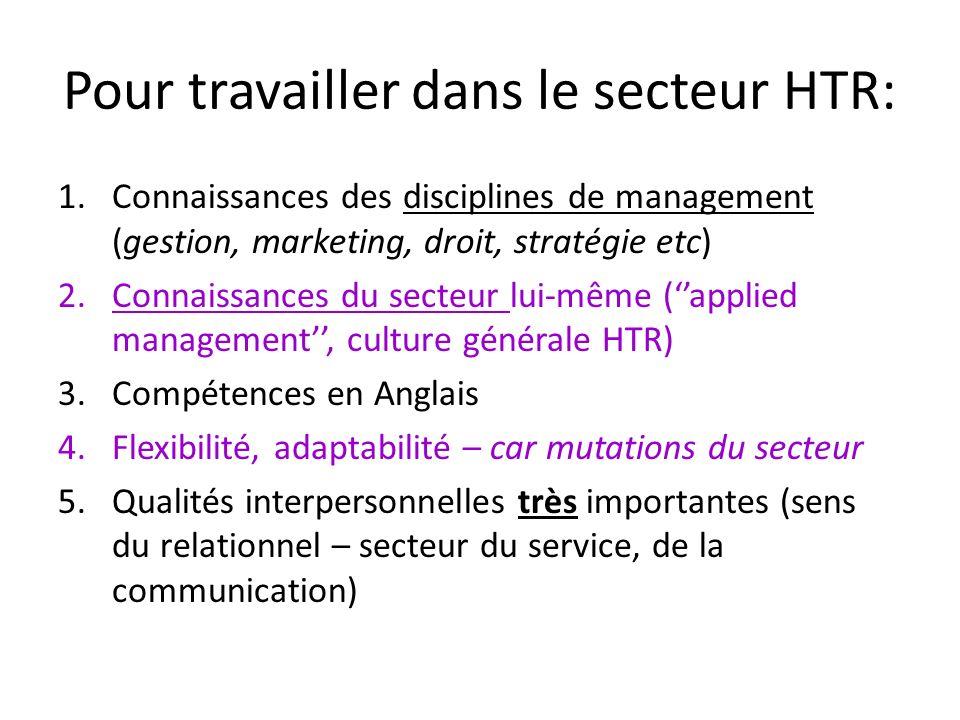 Pour travailler dans le secteur HTR: