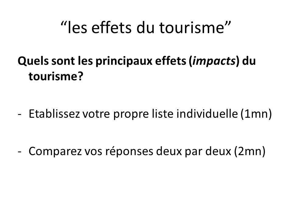 les effets du tourisme