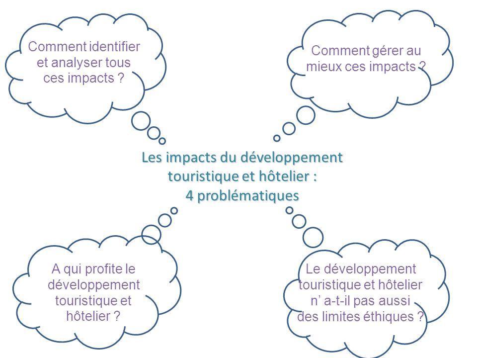 Les impacts du développement touristique et hôtelier :