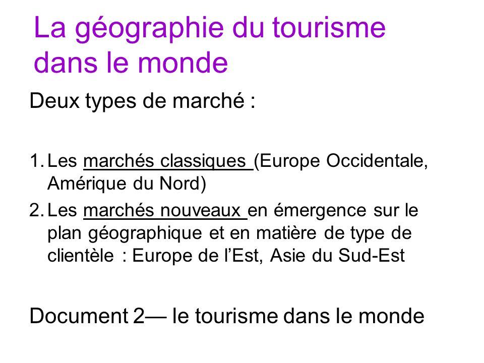 La géographie du tourisme dans le monde