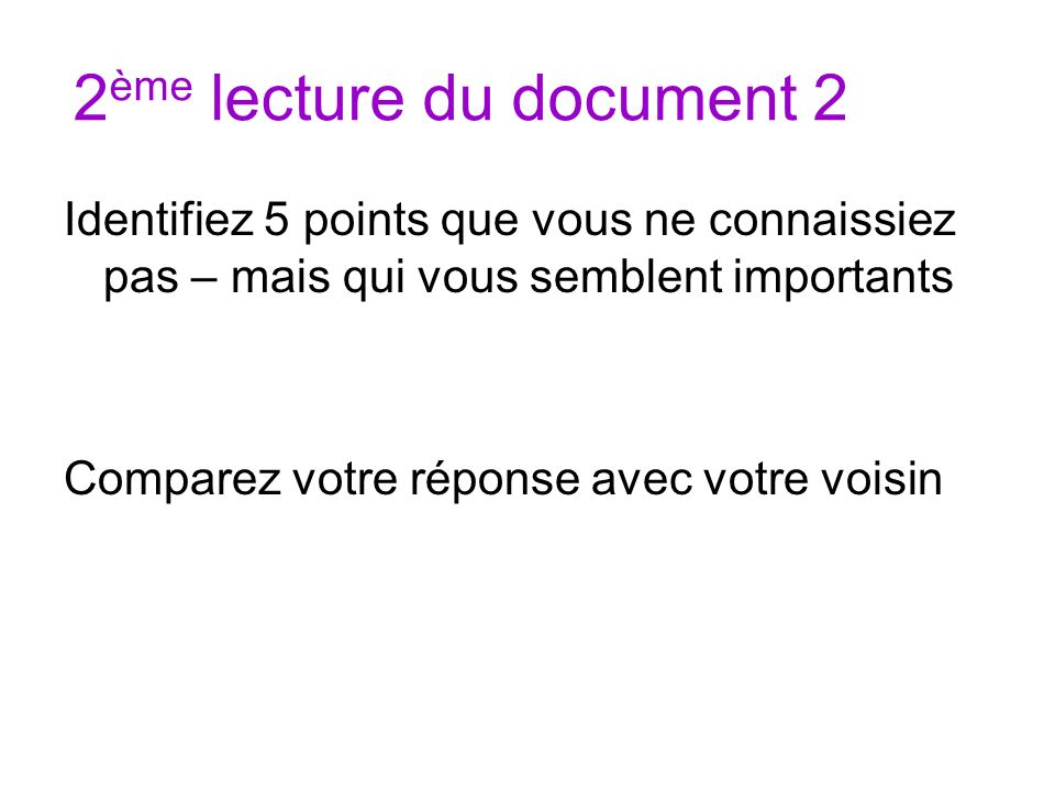 2ème lecture du document 2