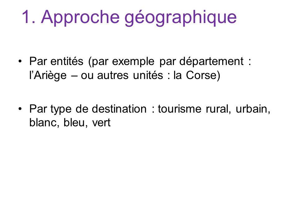 1. Approche géographique