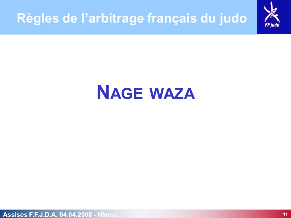 Règles de l'arbitrage français du judo