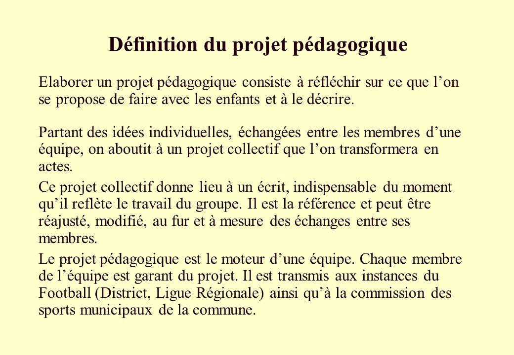 Définition du projet pédagogique