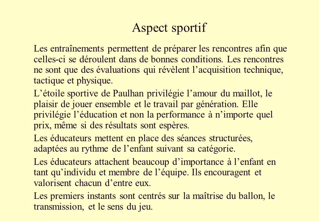 Aspect sportif