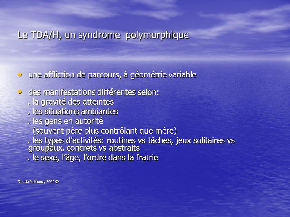 Le TDA/H, un syndrome polymorphique
