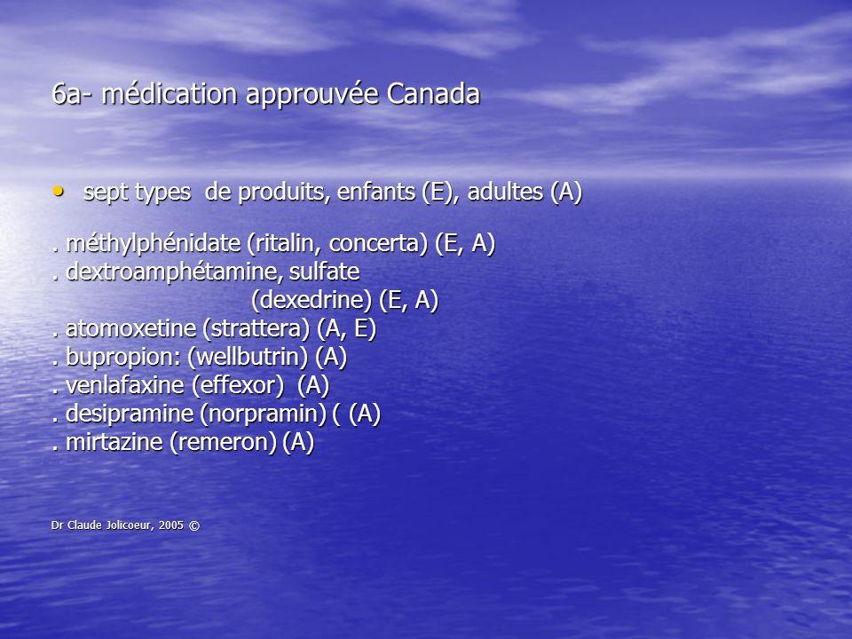 6a- médication approuvée Canada