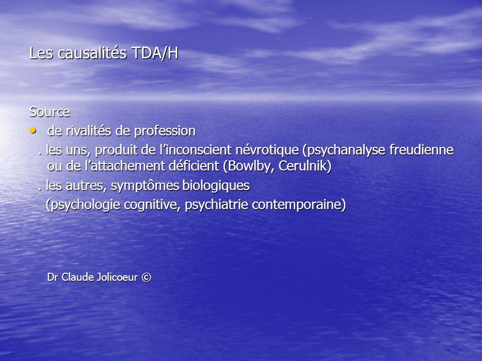 Les causalités TDA/H Dr Claude Jolicoeur © Source