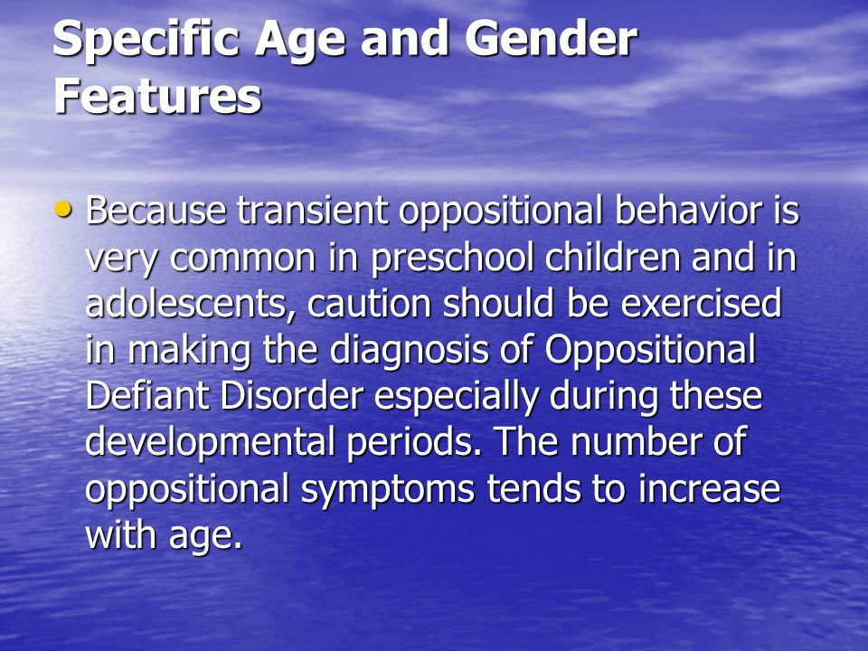 Specific Age and Gender Features