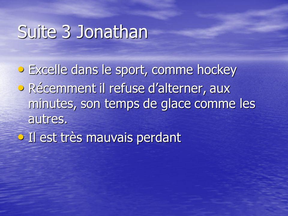 Suite 3 Jonathan Excelle dans le sport, comme hockey