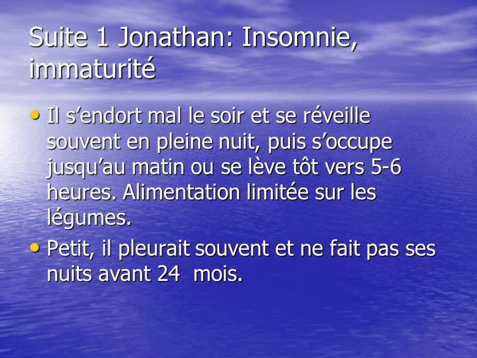 Suite 1 Jonathan: Insomnie, immaturité