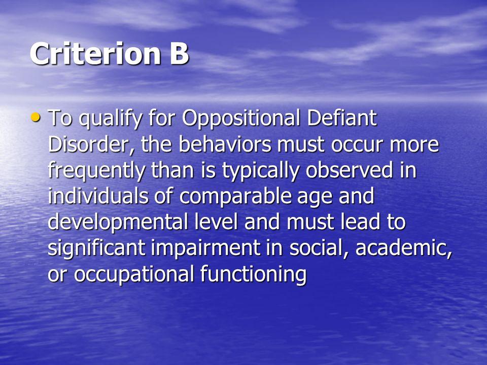 Criterion B