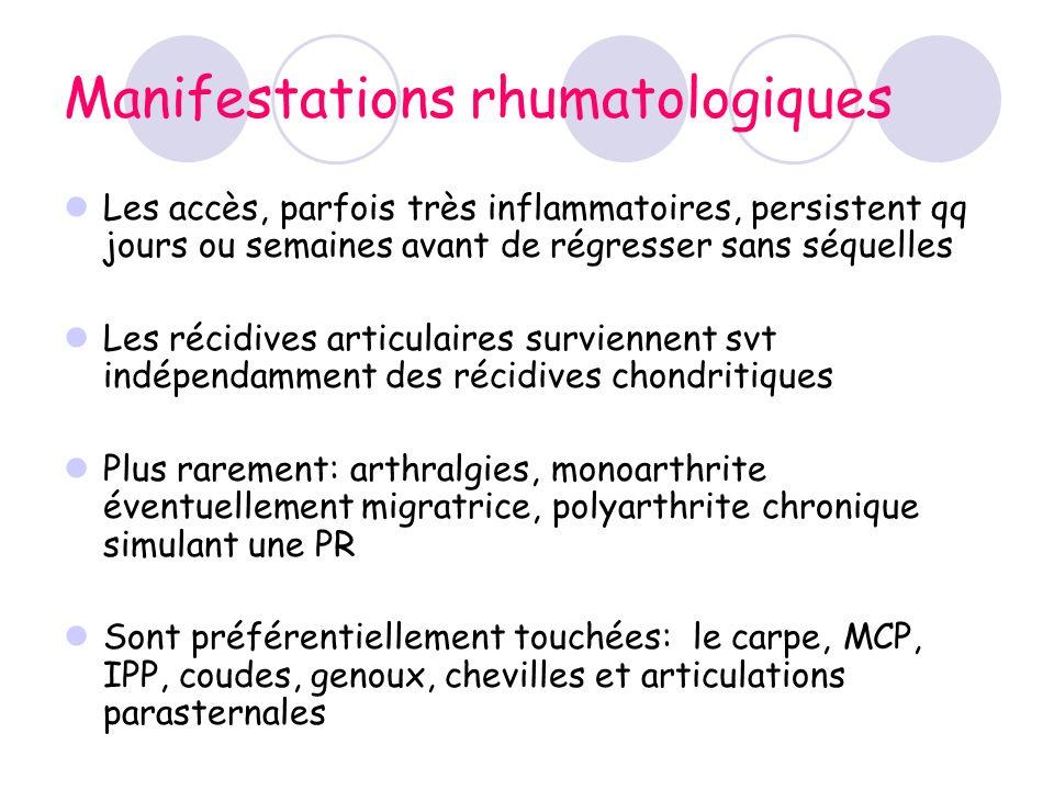 Manifestations rhumatologiques