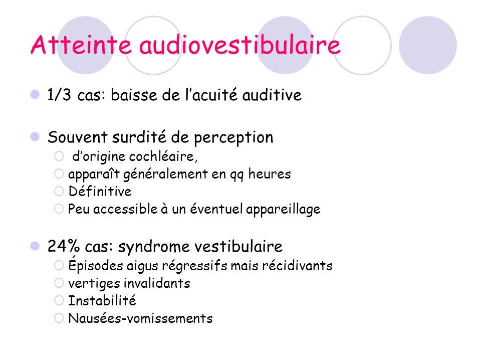 Atteinte audiovestibulaire