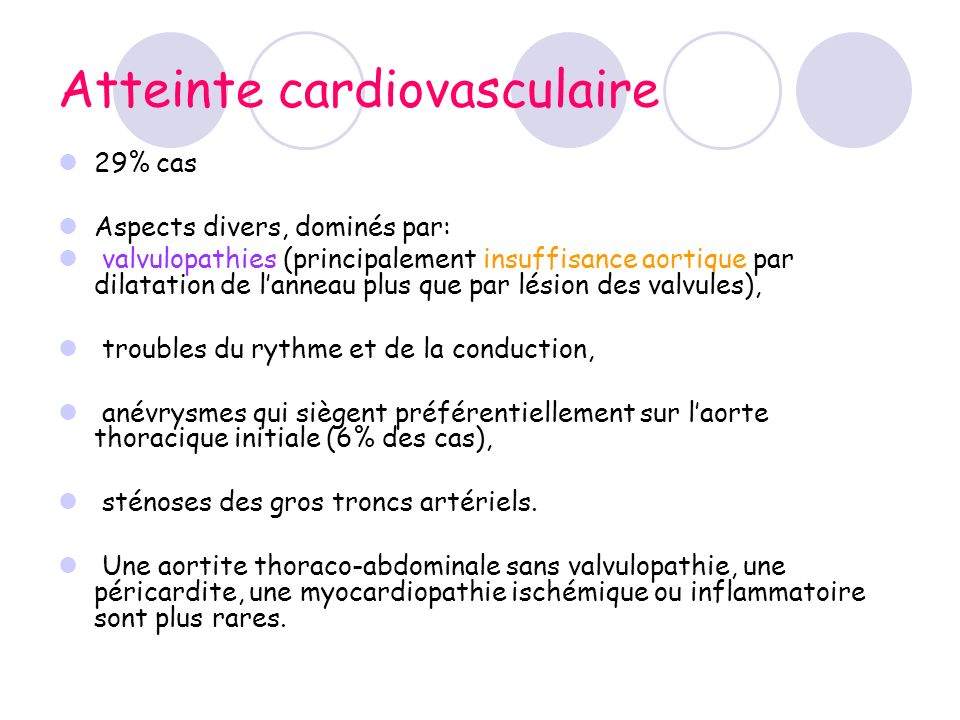 Atteinte cardiovasculaire