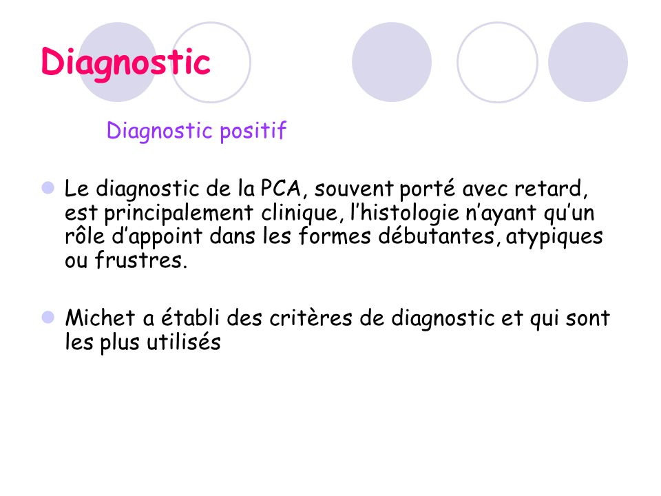Diagnostic Diagnostic positif