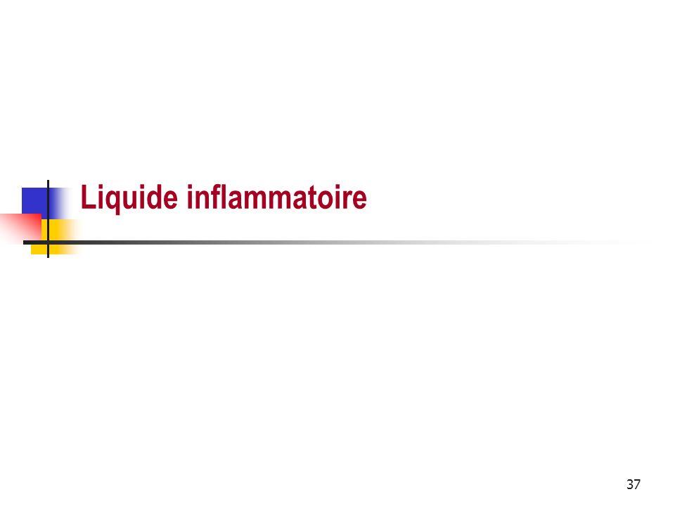 Liquide inflammatoire