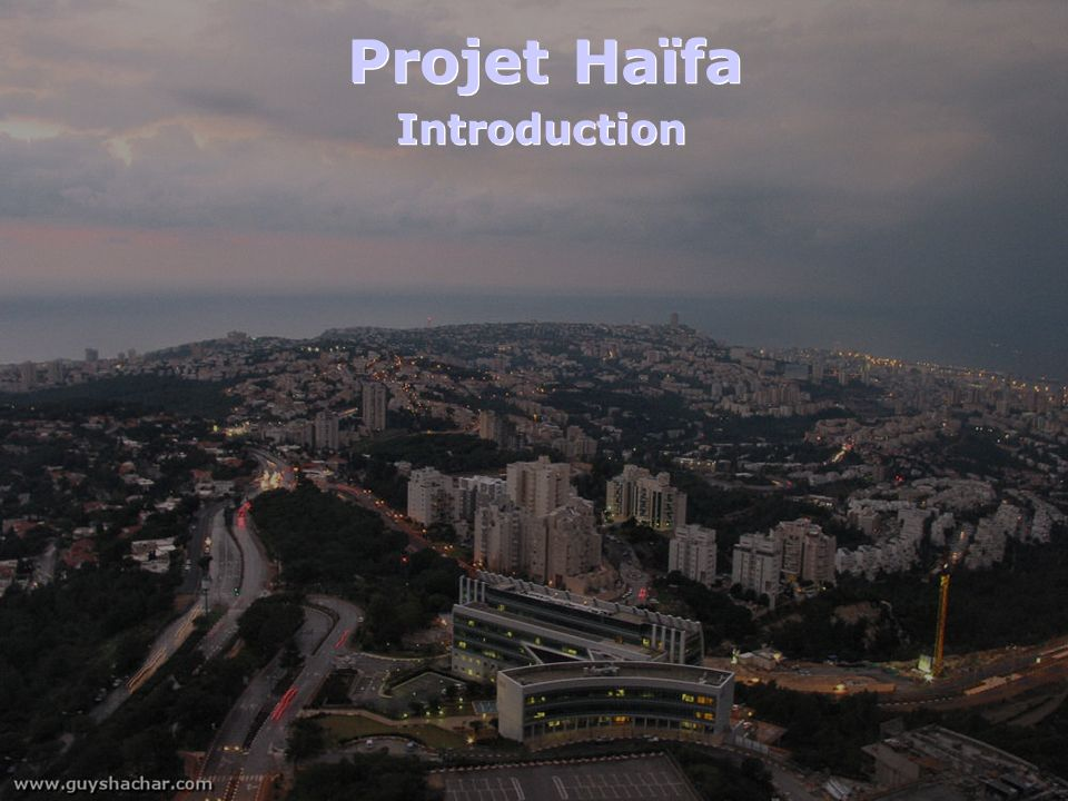 Projet Haïfa Introduction
