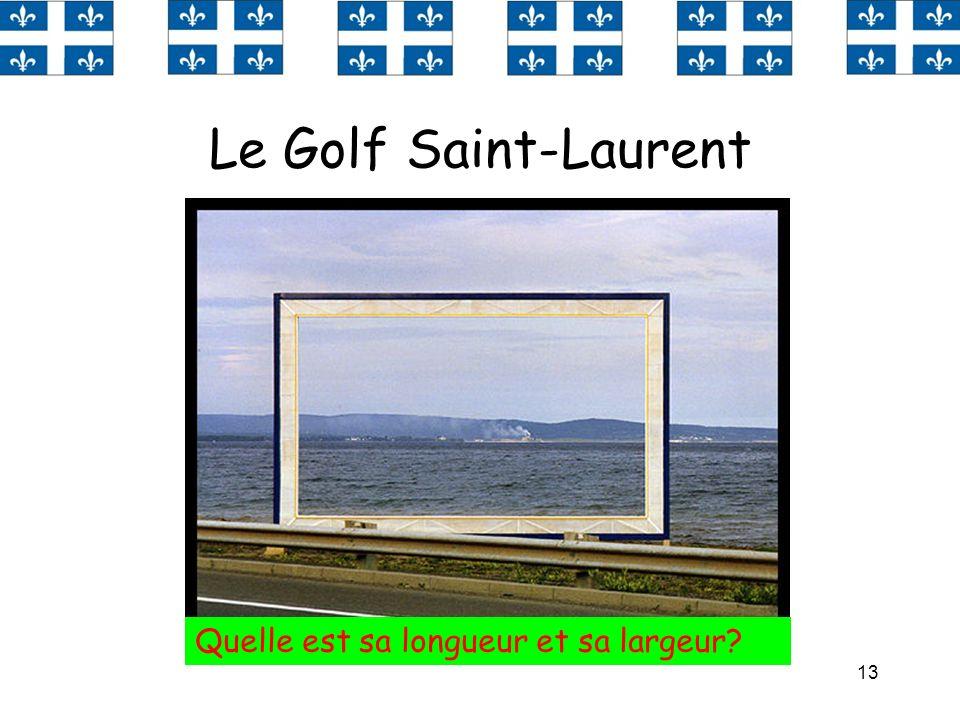 Le Golf Saint-Laurent Quelle est sa longueur et sa largeur