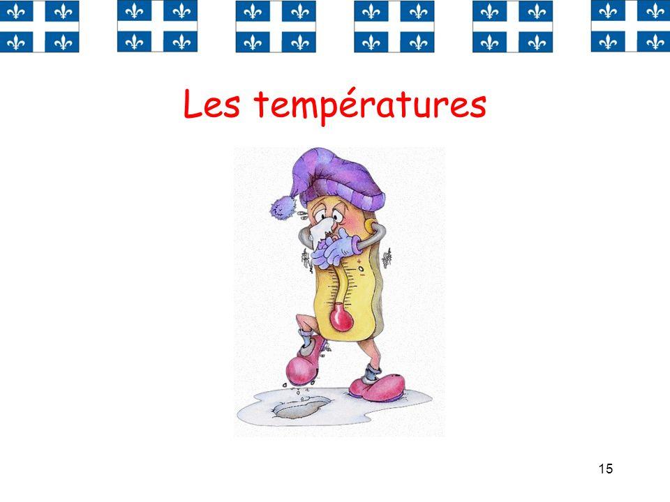 Les températures