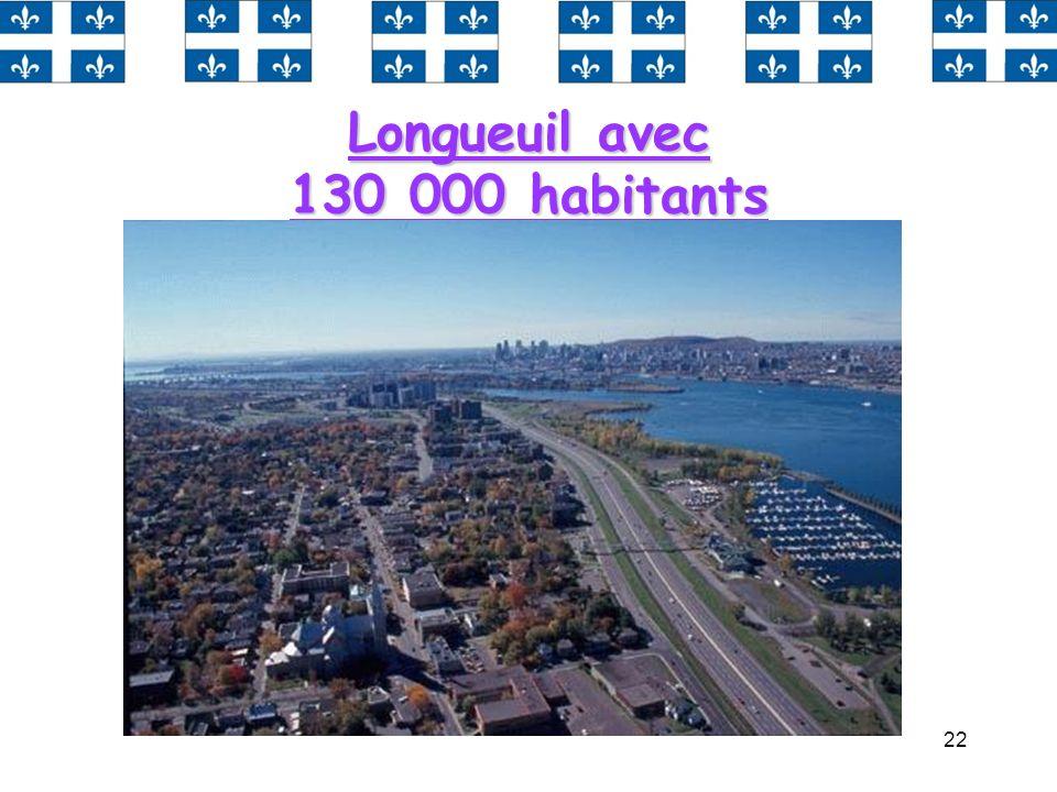 Longueuil avec 130 000 habitants