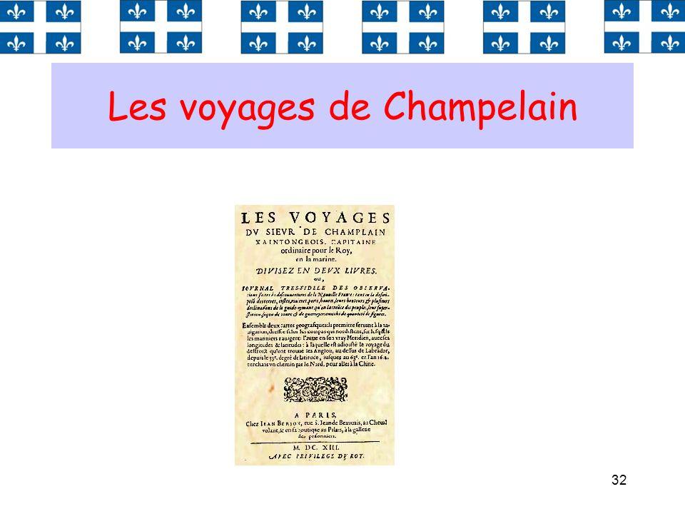 Les voyages de Champelain