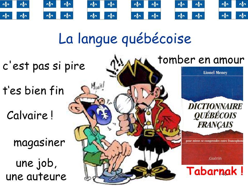 La langue québécoise tomber en amour c est pas si pire une tuque
