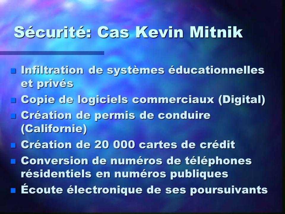 Sécurité: Cas Kevin Mitnik