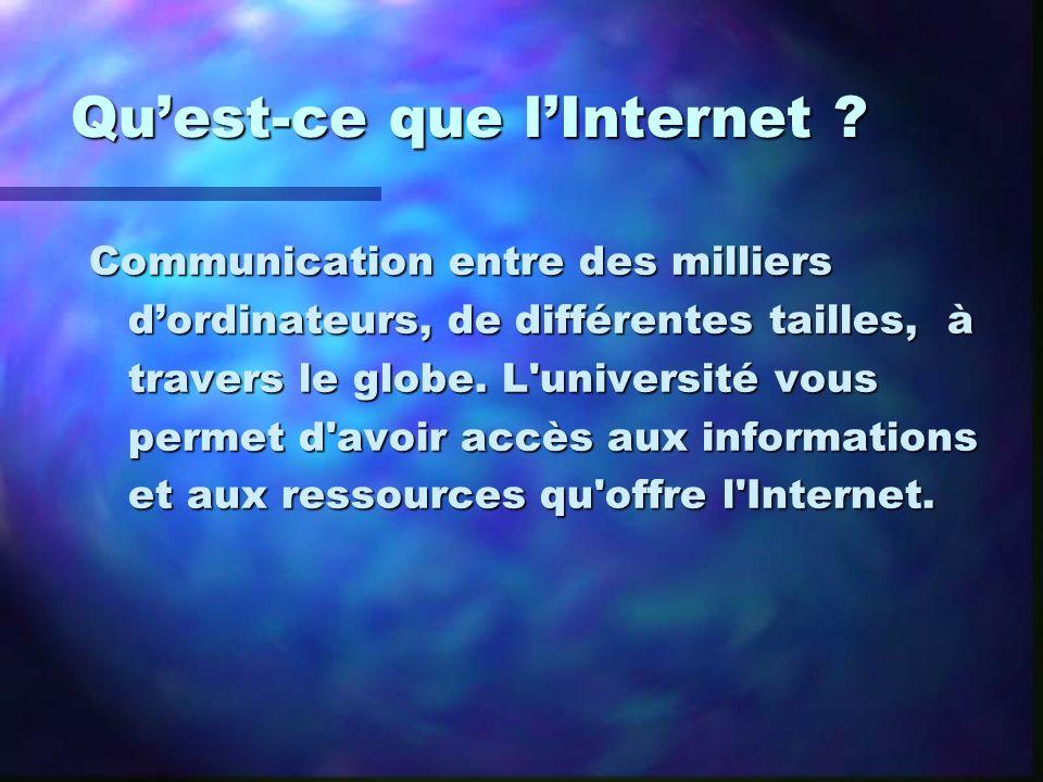 Qu'est-ce que l'Internet