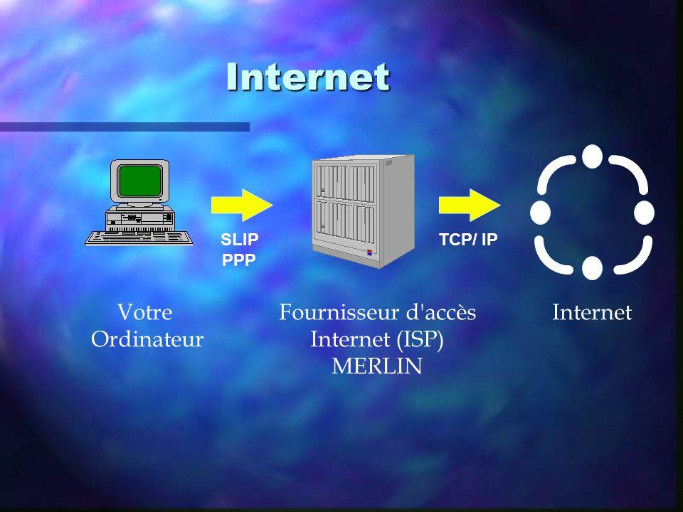 Internet Internet Fournisseur d accès Internet (ISP) MERLIN Votre