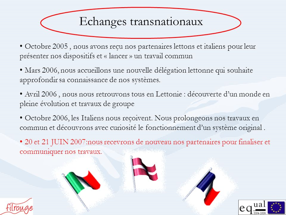 Echanges transnationaux