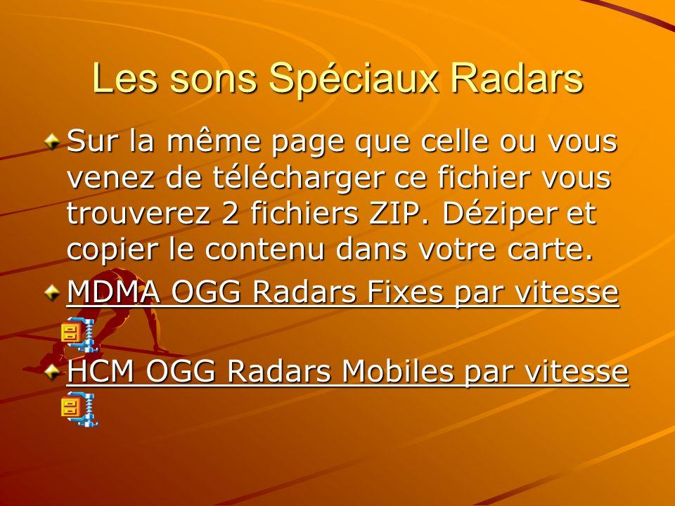 Les sons Spéciaux Radars