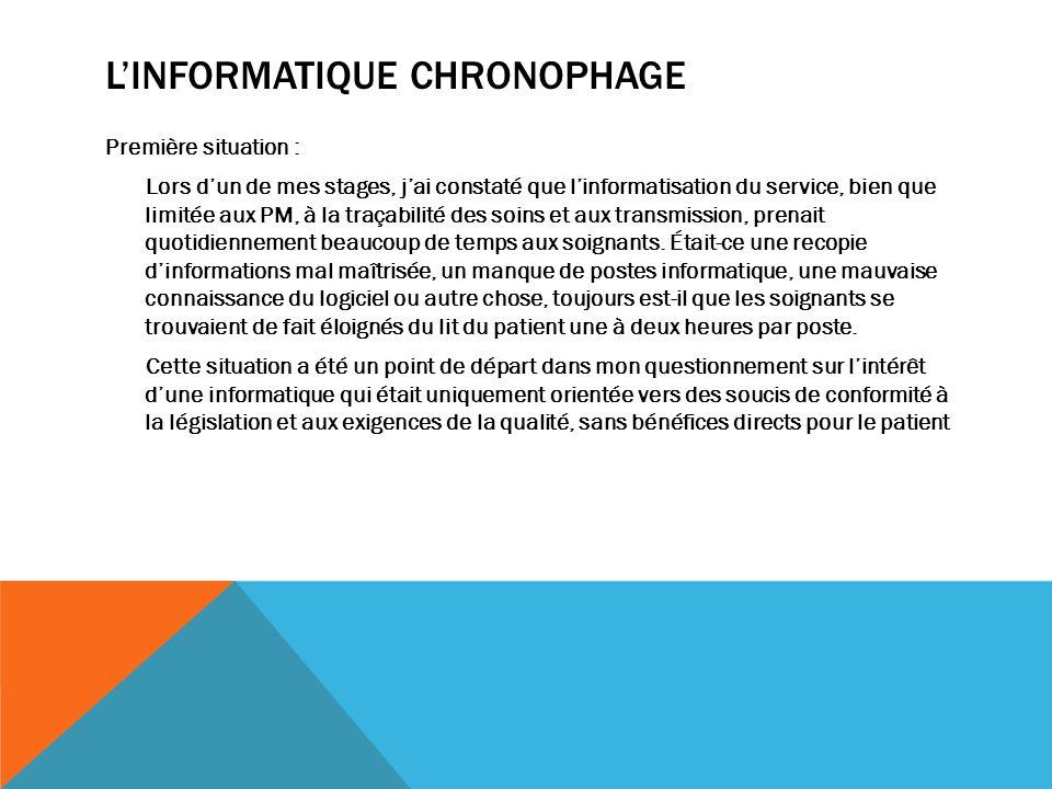 L'Informatique chronophage