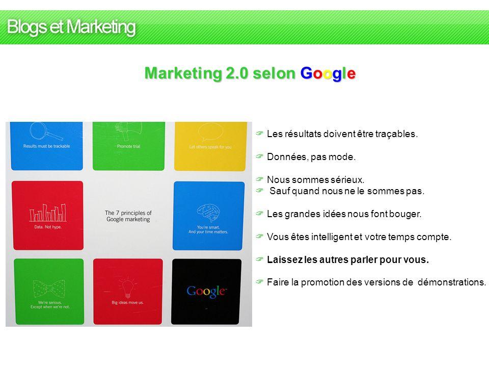 Marketing 2.0 selon Google