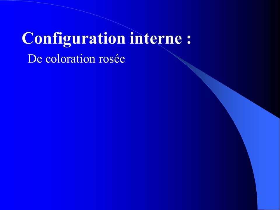 Configuration interne :