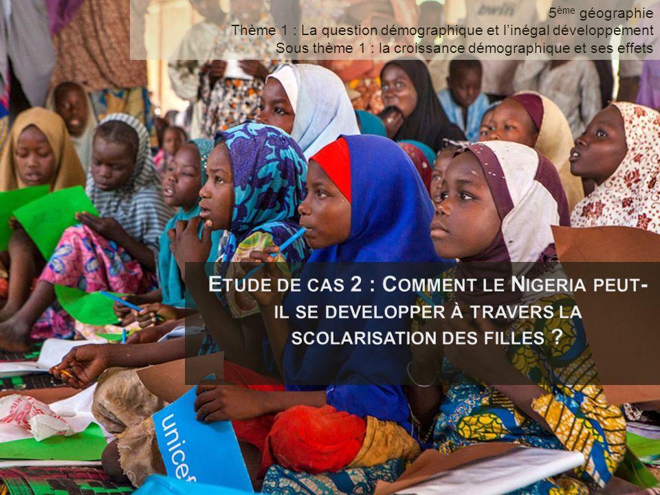 5ème géographie Thème 1 : La question démographique et l'inégal développement. Sous thème 1 : la croissance démographique et ses effets.