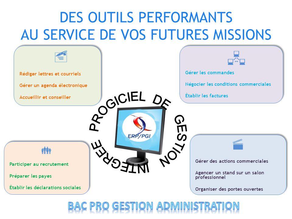 DES OUTILS PERFORMANTS AU SERVICE DE VOS FUTURES MISSIONS