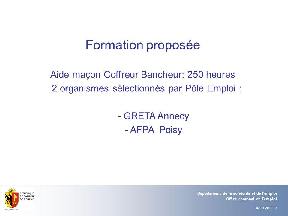 Formation proposée Aide maçon Coffreur Bancheur: 250 heures