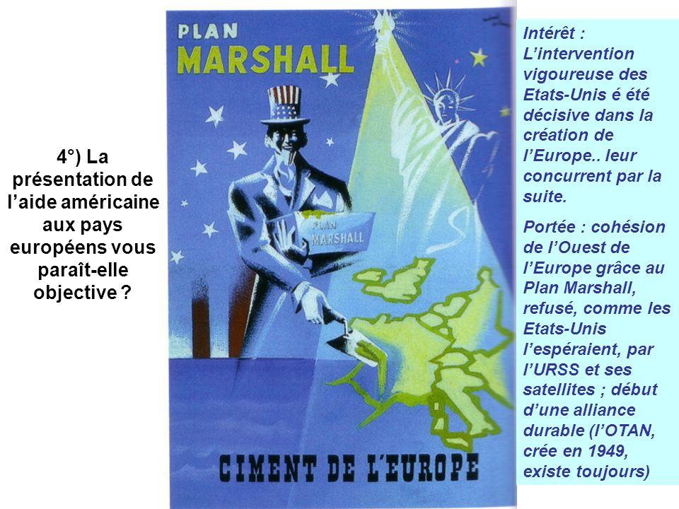 4°) La présentation de l'aide américaine aux pays européens vous paraît-elle objective
