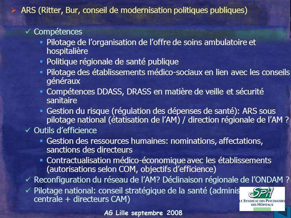 ARS (Ritter, Bur, conseil de modernisation politiques publiques)