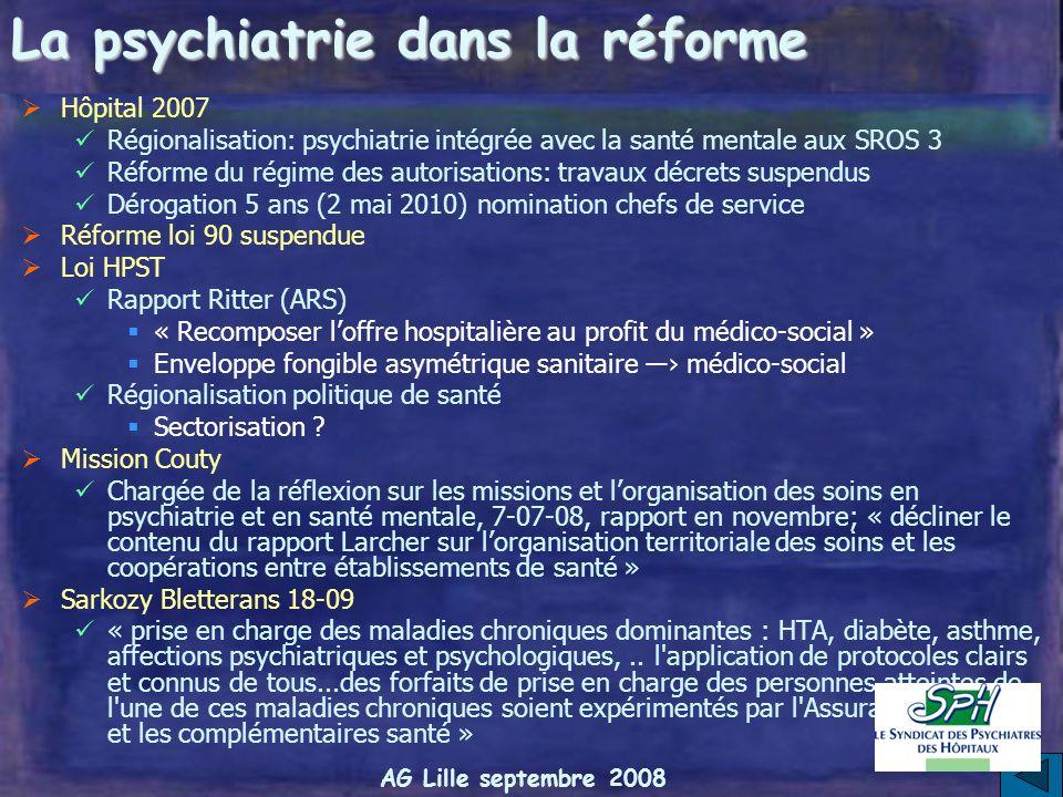 La psychiatrie dans la réforme