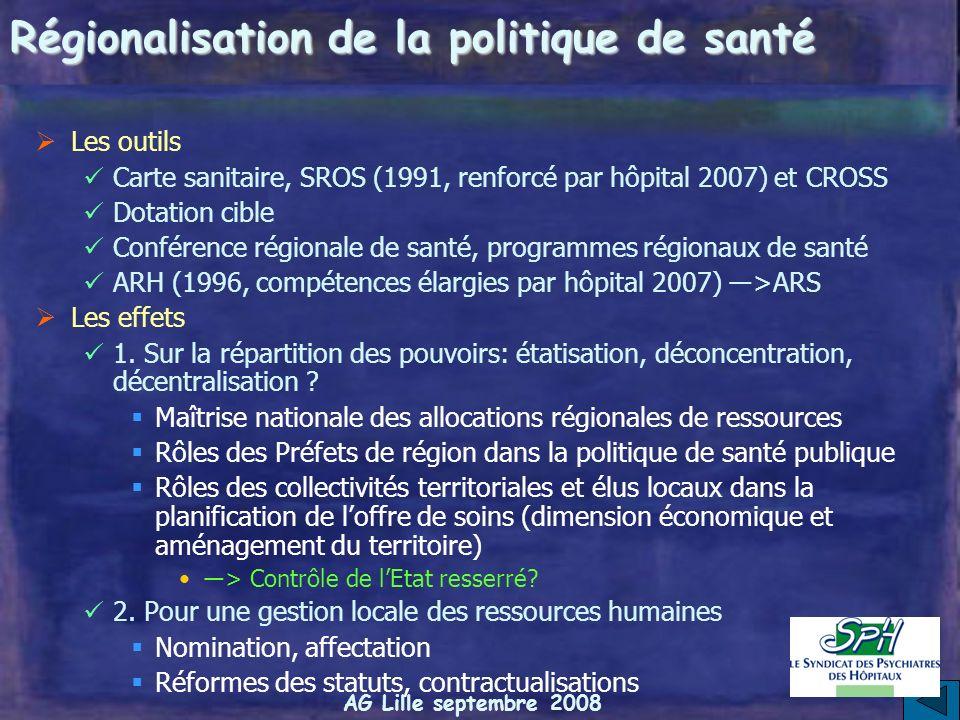 Régionalisation de la politique de santé