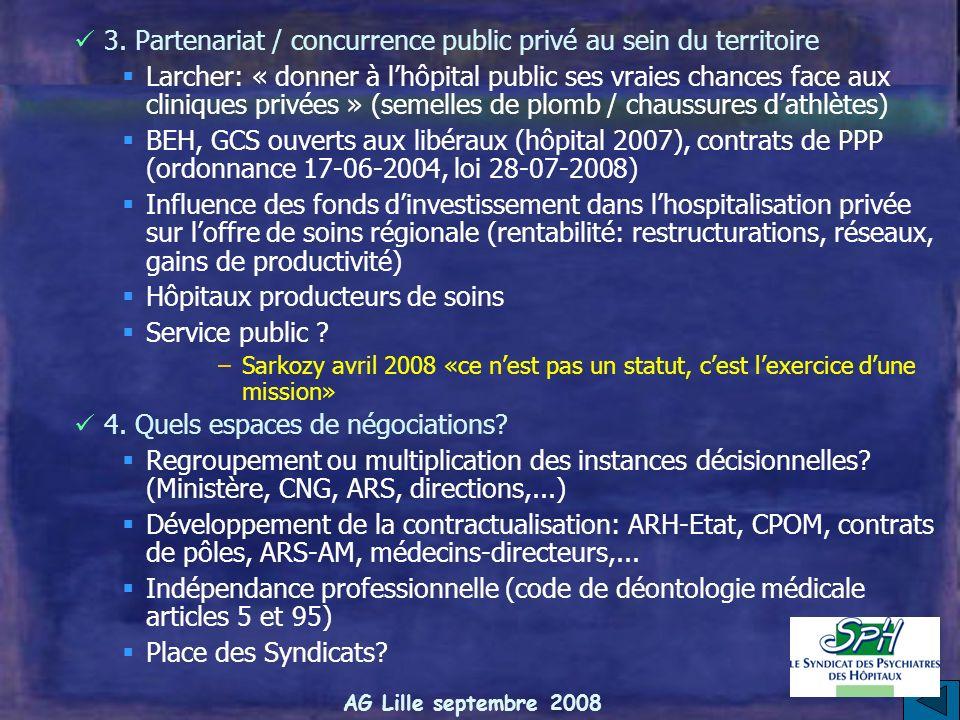 3. Partenariat / concurrence public privé au sein du territoire