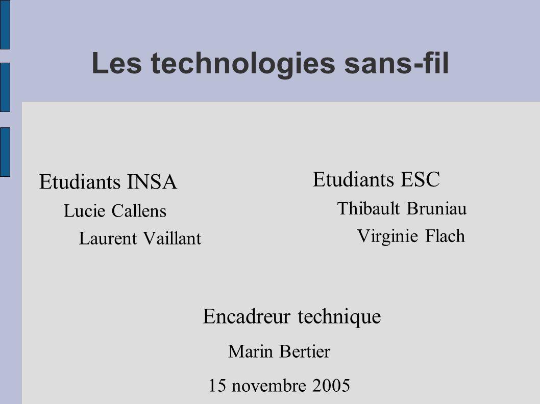 Les technologies sans-fil