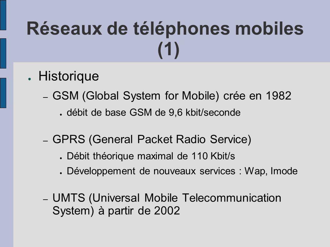 Réseaux de téléphones mobiles (1)