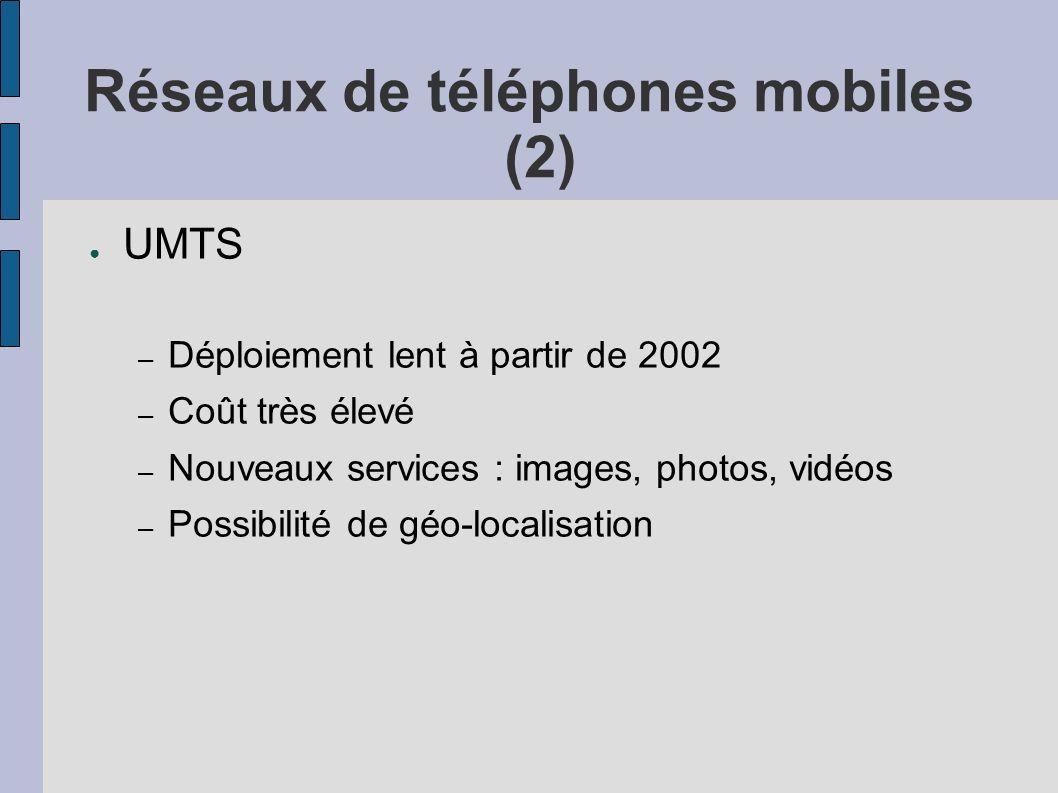 Réseaux de téléphones mobiles (2)