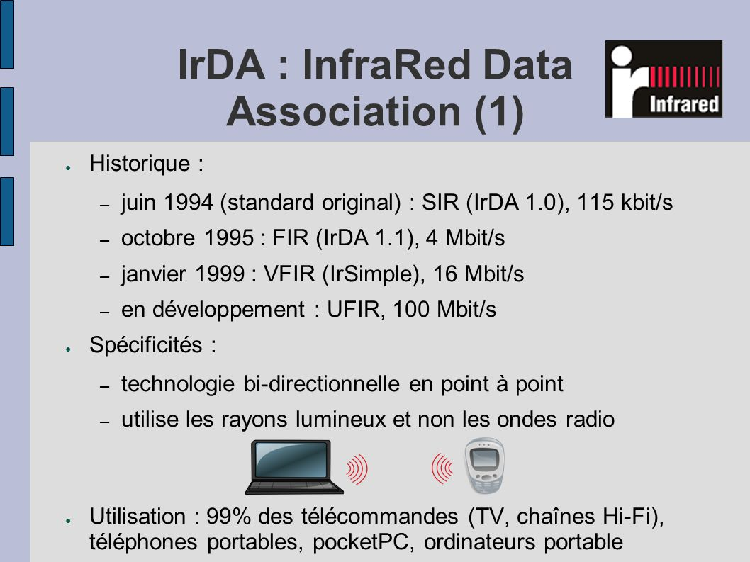 IrDA : InfraRed Data Association (1)