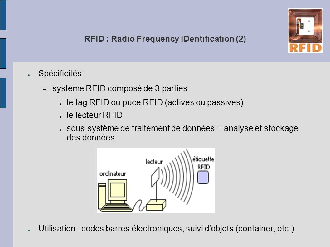 RFID : Radio Frequency IDentification (2)