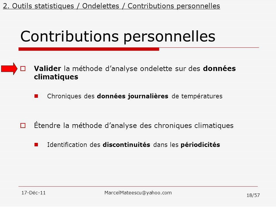 Contributions personnelles