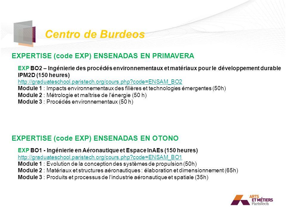 Centro de Burdeos EXPERTISE (code EXP) ENSENADAS EN PRIMAVERA